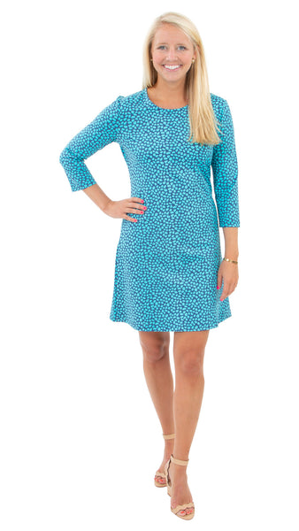 Grace Dress - Pebbles Navy/Ceramic - FINAL SALE