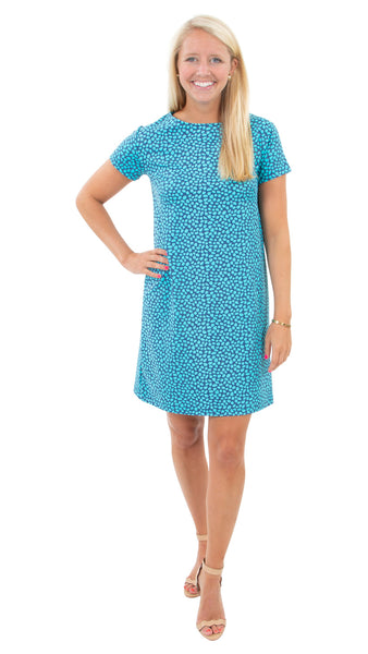 Marina Dress - Pebbles Navy/Ceramic