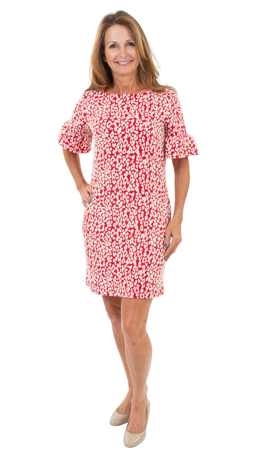 Dockside Dress - Red Leopardess