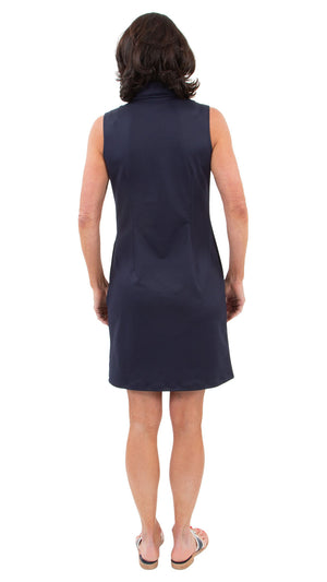Britt Dress - Navy/Geo Blue/Azure