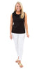 Cricket Sleeveless Top - Black