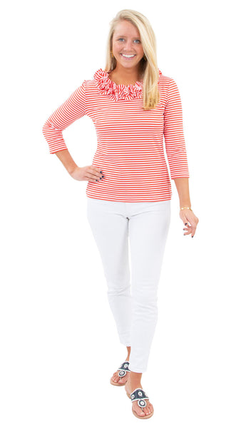 Cricket Top - Juicy Stripes Red/White