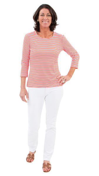 Crew Tee - Juicy Stripes Red/White