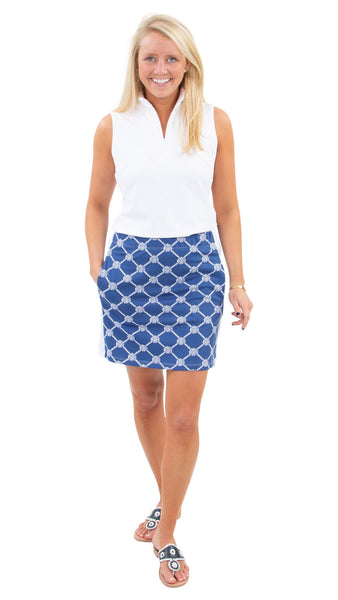 Sport Skort - Knotted Rope Ball Navy/White - FINAL SALE