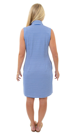 Britt Sleeveless Dress - Royal/White Stripe - FINAL SALE