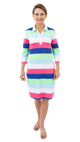 Port Dress - Rugby Stripe