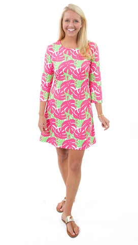 Grace Dress Palm Dance Pink/Green