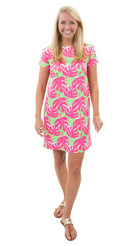 Marina Dress - Palm Dance Pink/Green