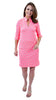 Seaport Shift 3/4 Sleeve Dress - Sand Dollar Pink/Green