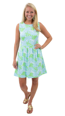 Boardwalk Dress - Palm Dance Aqua/Green