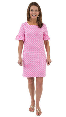 Dockside Dress - Pink/WhiteFish Net Rope