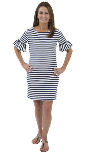 Dockside Dress - Navy/White Stripes-FINAL SALE