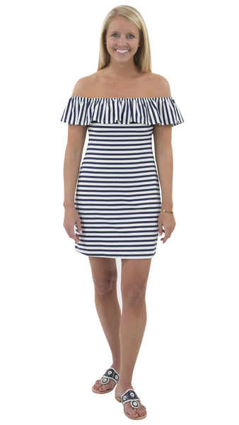 Shoreline Dress - Navy/White Stripe