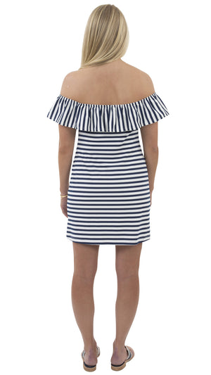 Shoreline Dress - Wide Navy/White Stripe