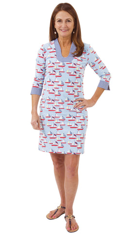 Hannah Dress - Sailboats