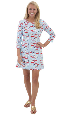 Grace Dress - Sailboats