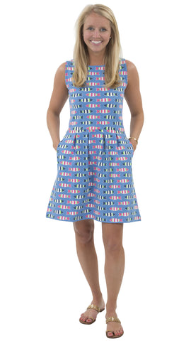 Boardwalk Dress - Rugby Fish