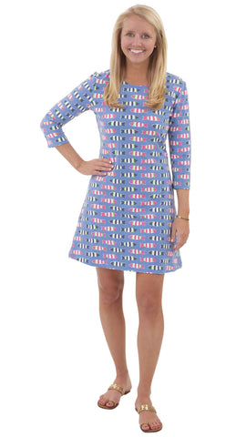 Grace Dress - Rugby Fish