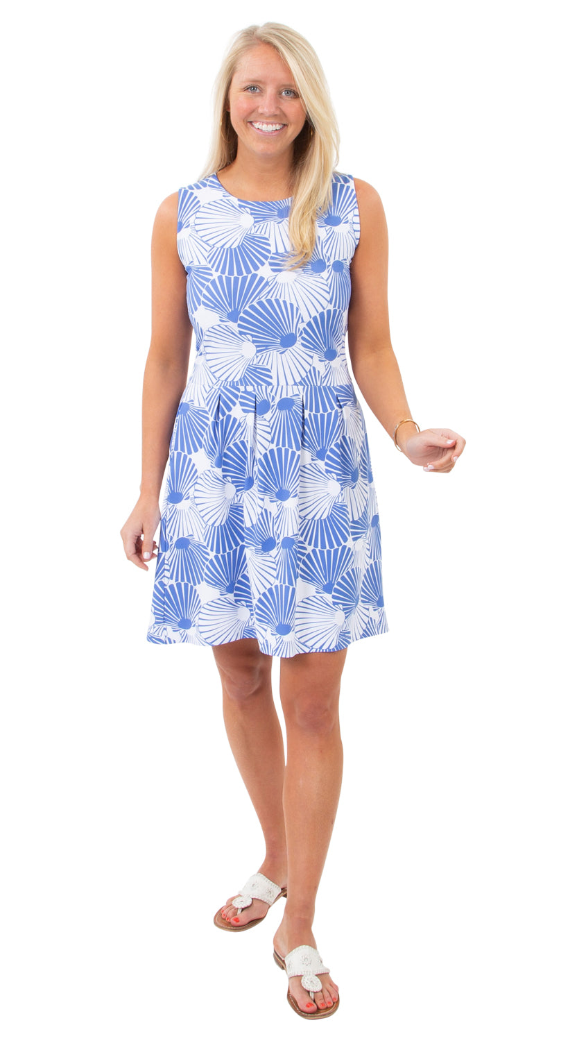 Boardwalk Dress - Scattered Scallops- FINAL SALE