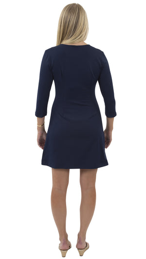 Grace Dress - Solid Navy