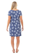 Marina Dress - Stick Starfish Navy/White