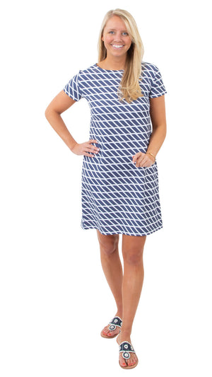 Marina Dress - Rope Stripe