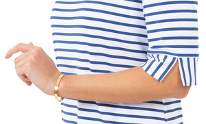 Yacht Club Shift 3/4 Sleeve - Summer Stripe