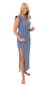 Jojo Maxi Dress - Summer Knot Navy/White