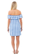 Shoreline Dress - Summer Knot Azure/White