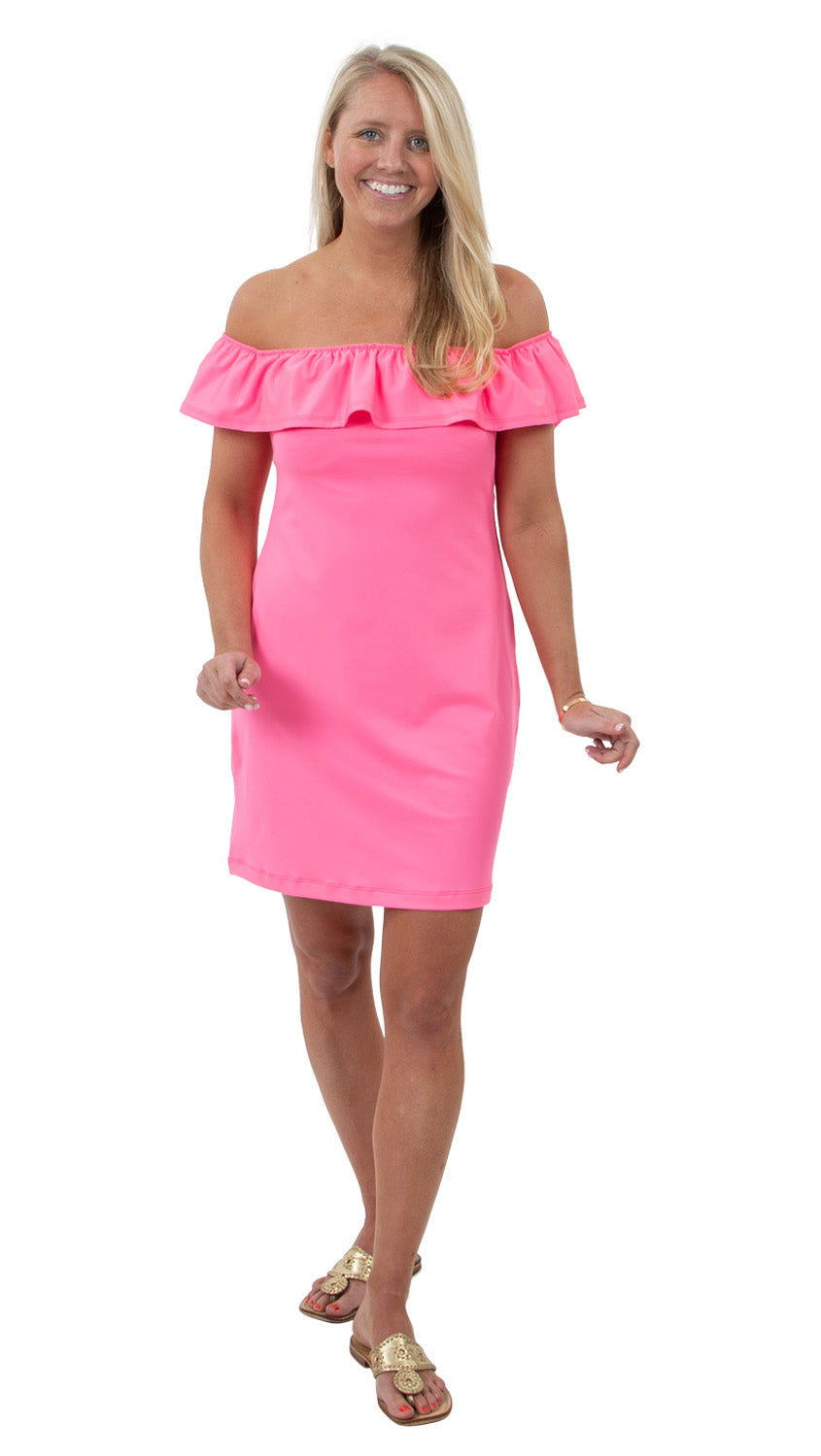 Shoreline Dress - Solid Neon Pink - FINAL SALE