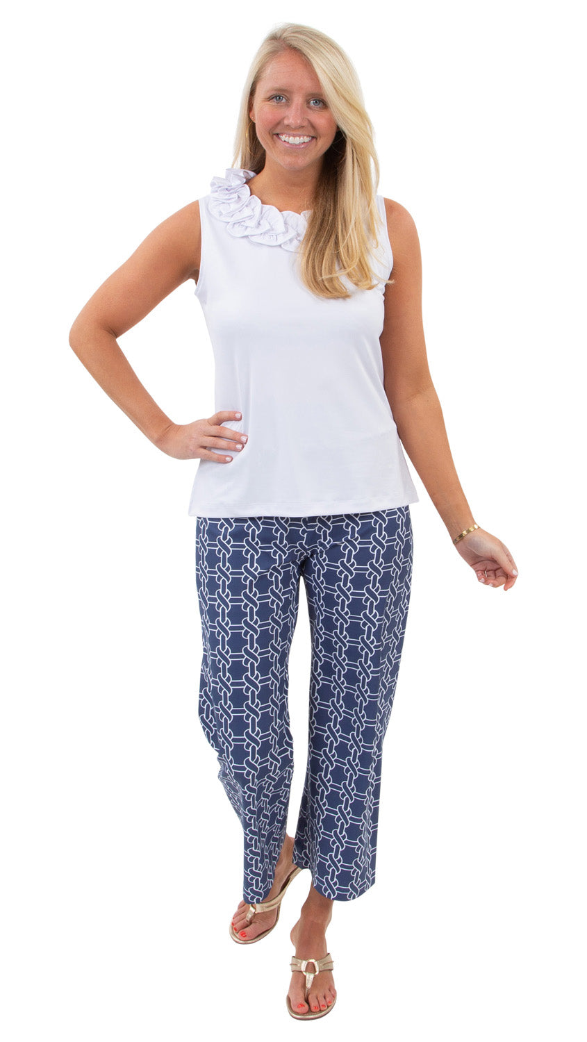 Dorothy Pants - Summer Knot Navy/White