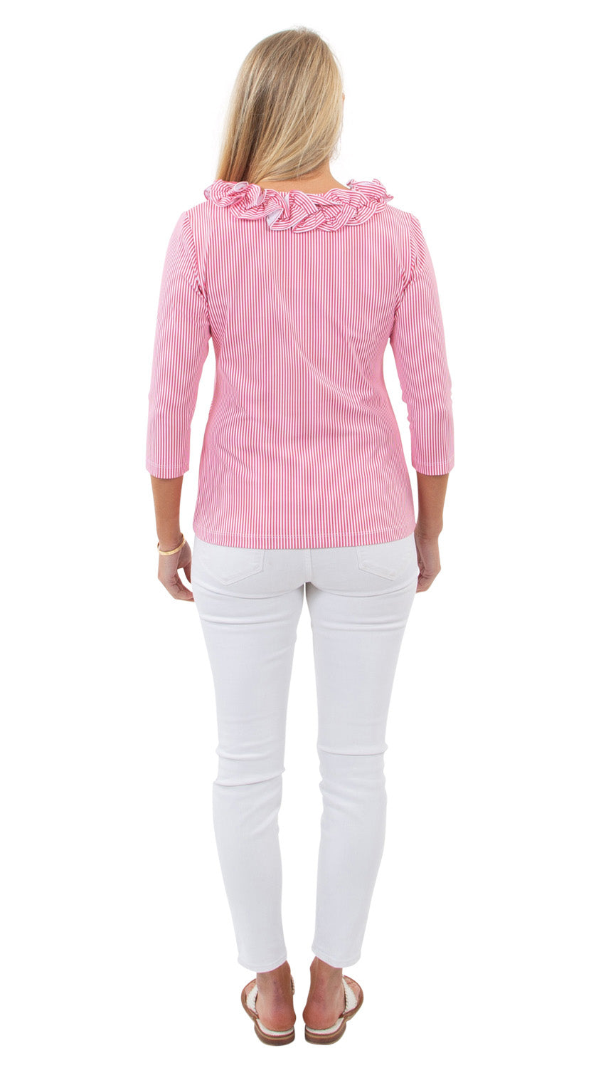 Cricket Top - Hot Pink Pinstripe