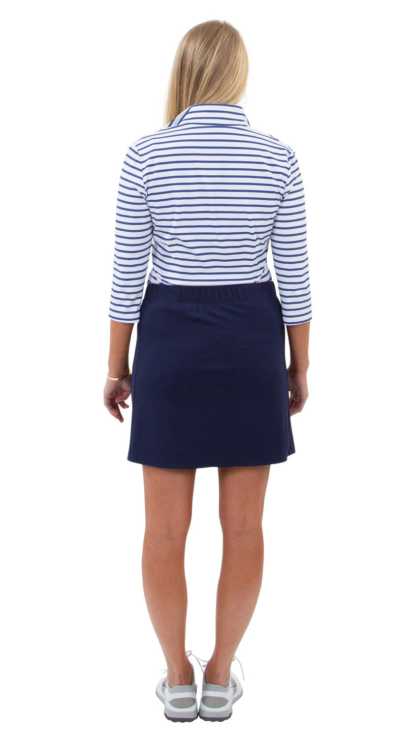 Britt 3/4 Sleeve Top - Summer Stripe