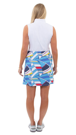 Sport Skort - 17 inch - Billowing Sails