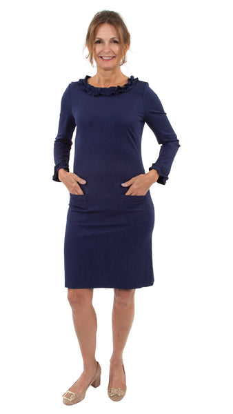 Becca Dress - Solid Navy
