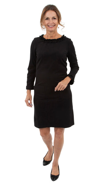 Becca Dress - Solid Black SAMPLE - FINAL SALE