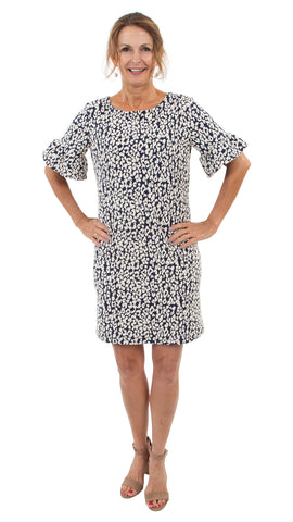 Dockside Dress - Navy Leopardess