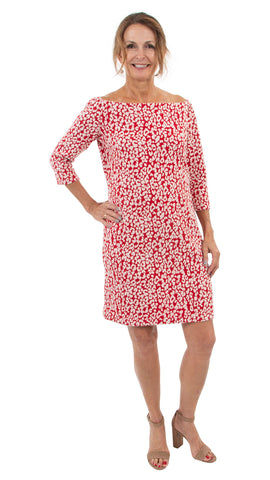 Islander Dress - Red Leopardess