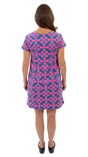 Marina Dress - Gems Navy/Pink FINAL SALE