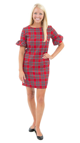 Dockside Dress - Holiday Red Plaid