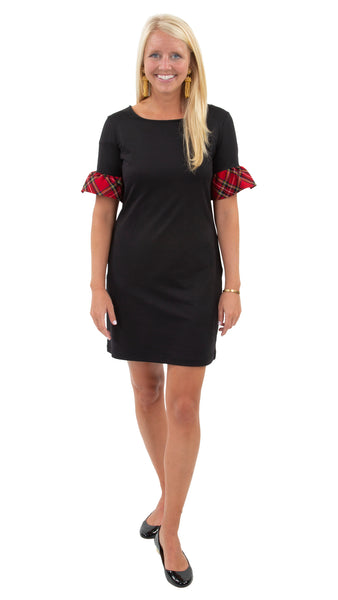 Dockside Dress - Black/Red Plaid Cuff