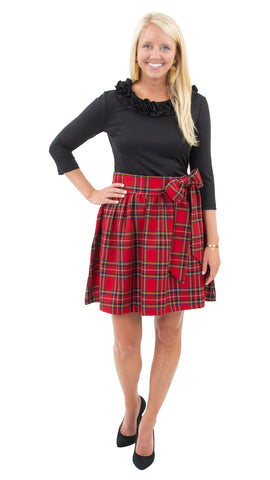 Party Skirt - Holiday Red Plaid