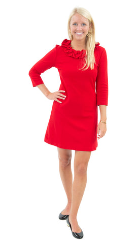 Cricket Dress - Solid Red PONTE