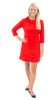Cricket Dress - Solid Red
