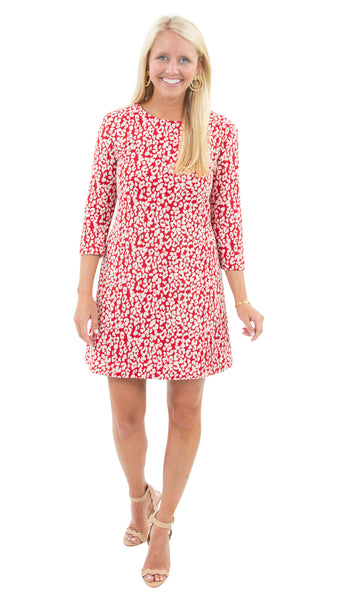 Grace Dress - Red Leopardess