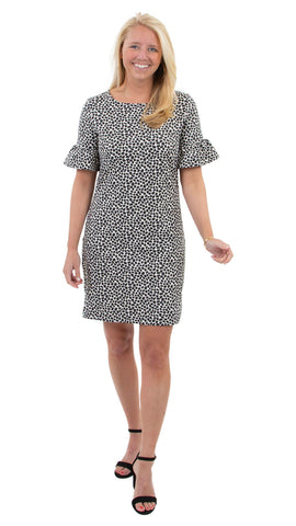Dockside Dress - Almond/Black Pebbles