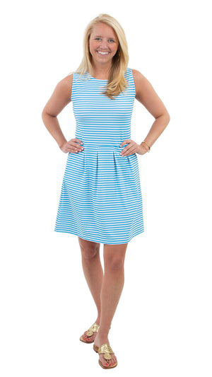 Boardwalk Dress - Aquarius/White Stripe