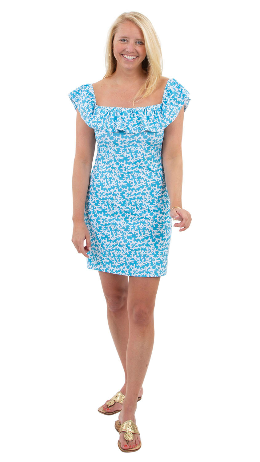 Shoreline Dress - Tiny Coral Aquarius