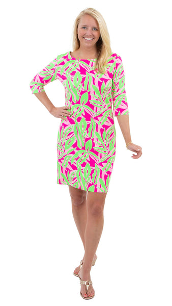 Grace Dress - Tropical Breeze Pink/Green