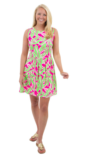 Boardwalk Dress - Tropical Breeze Pink/Green- FINAL SALE